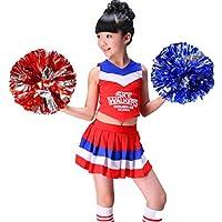 SMACO Traje de Vestir de los niños de la porrista del Uniforme de la Animadora de Las niñas,Red,120CM