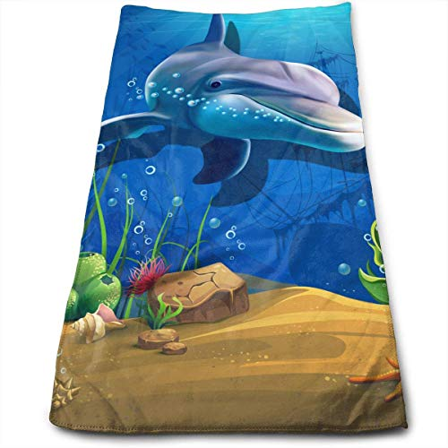 gthtyju Sea Creatures 100% Cotton Towels Ultra Soft & Absorbent Bathroom Towels Great Shower Towels, Hotel Towels & Gym Towels