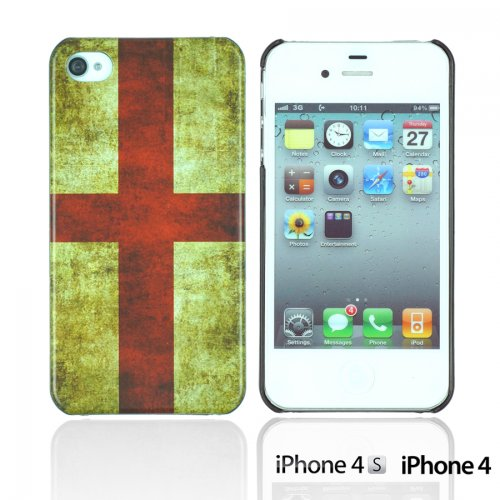OnlineBestDigital - Vintage National Flag Hard Back Case / Housse pour Apple iPhone 4S / Apple iPhone 4 - Italie Angleterre