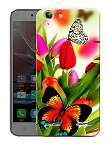 "Humor Gang Butterflies And Flowers Printed Designer Mobile Back Cover For ""Lenovo Vibe K5 - K5 Plus"" (3D, Matte Finish, Premium Quality, Protective Snap On Slim Hard Phone Case, Multi Color)"