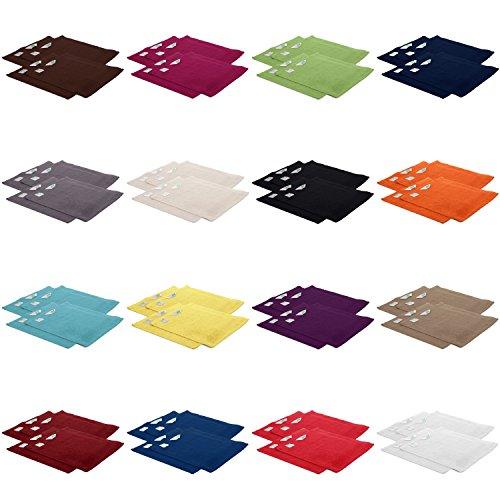 4er Pack zum Sparpreis, Frottier Handtuch-Serie - in 7 Größen und 16 Farben 100% Baumwolle 500 g/m², 4er Pack Seiftücher (30x30 cm) in Orchidee