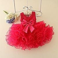 QTONGZHUANG Korean Kleid Geburtstag Geburtstag Romantische Lila Flauschige Blumenmädchen Kleid Kleid Kinderkleidung