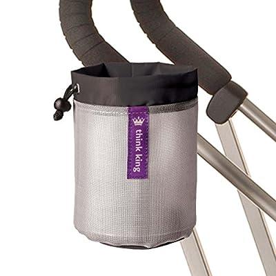 Kinderwagen Getränkehalter Behälter Soft Buggy Cup Think King, bc Farbe:Black-Silver