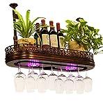 AnnJPJ Weinglasregal, Multifunktionsgerät Mit Licht Verstellbarem Boom-Hängender Kelch-Speicher Für Hängende Bar-Familienlagerungsgestell, Bronze (größe : 80 * 28cm)