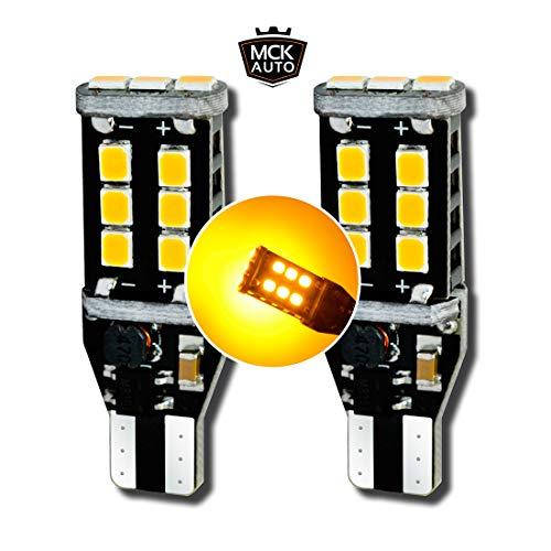 MCK Auto - Remplacement pour Ensemble d'ampoules orange T15 W16W LED CanBus très clair et sans erreur compatible avec XE