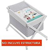 Vestidura Minicuna Tijeras mibebestore Blanco/Gris (No Incluye Estructura)