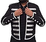 TLCFashion My Chemical Romance Jacket American Band Black Parade - Giacca in Pelle Nero XL