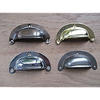 Ironmongery World® Vintage acciaio Coppa Tazza Maniglia Armadio