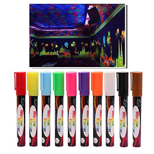 Rotuladores tiza, 10 colores brillantes marcadores