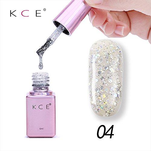 kashyk Pailletten-Nagellack-Kleber 6ml, Spiegelglatt Pailletten-Nagellack, lang anhaltend trocken, Make-up, täglich -