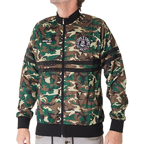 UNFAIR ATHLETICS Herren Jacken / Übergangsjacke DMWU Tracktop camouflage L
