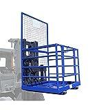 Plataforma jaula de seguridad montacargas carretilla elevadora Carga máxima 250 kg Tamaño 1150 mm x 1230 mm