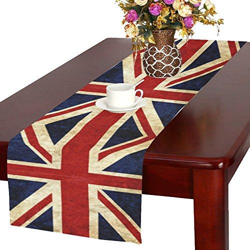 interestprint Grunge Union Jack Flagge Baumwolle Tischläufer Tisch-Sets 40,6x 182,9cm, British UK Esstisch Leinen Reinigungstuch für Küche/Büro Hochzeit Party Home Decor