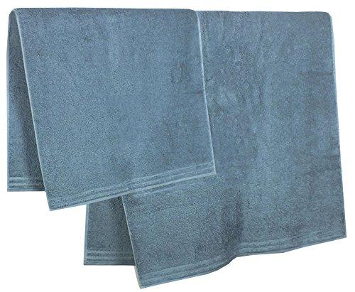 Vossen Unisex Bademantel Set Duschtuch Handtuch Wellnessset Relax Flanell