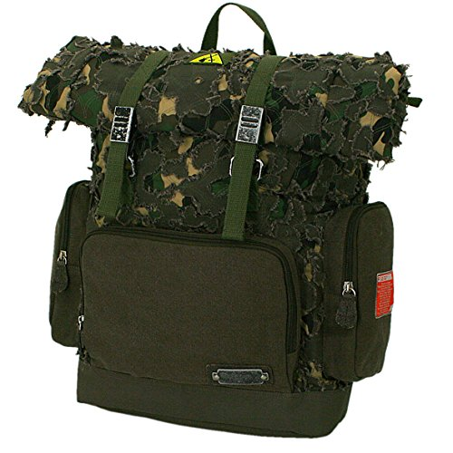 F23, Erweiterbarer Rucksack, HxLxB: 40x16x30 cm, ca. 20 Liter, Parapatch, Braun/Camo, 30011-3 - Erweiterbarer Rucksack