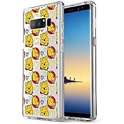 Coque Souple Transparente pour Samsung Galaxy Note 8 avec Protection Anti-Rayures et Absorption des Chocs Winnie l'ourson