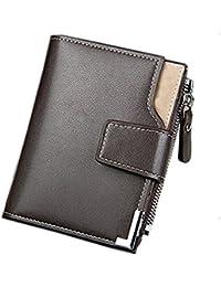 Taslar® Stylish Leather Wallet Credit Card and Money Holder - Brown