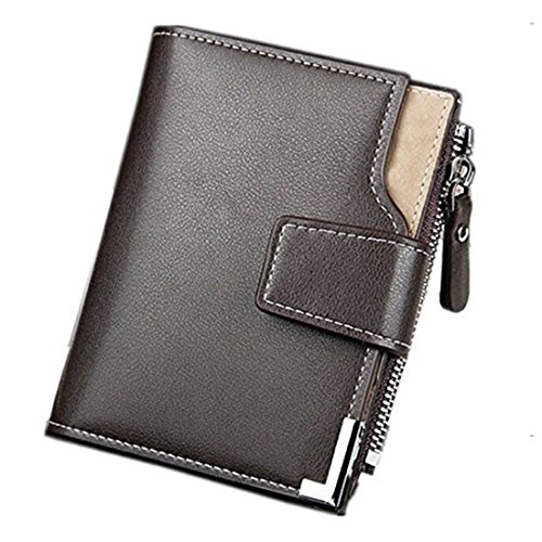 Taslar(TM) Stylish Leather Wallet Credit Card and Money Holder - Brown