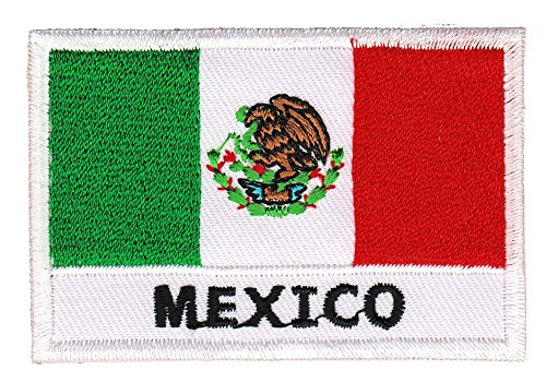 Flagge Mexico Aufnäher Bügelbild Patch Applikation