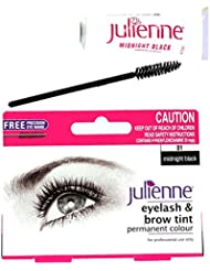 Julienne Eyelash Eyebrow Tinting Kit Dye Midnight Black Brush Tint Dish Oxidant