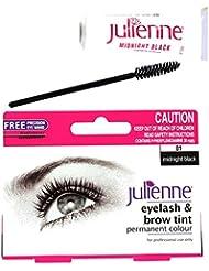 Julienne Eyelash Eyebrow Tinting Kit Dye Midnight Black Brush Tint Dish Oxidant