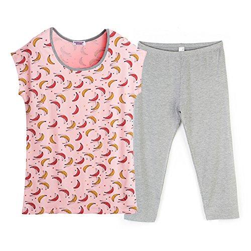Estate ladies pigiami/Pantaloni manica corta/Sottile donne abbigliamento tuta B