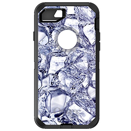 DistinctInk Fall für iPhone 7 Plus / 8 Plus Otterbox Defender Gewohnheits-Fall Crystal Clear Ice Bild Print On-Schwarz-Fall - Ice Clear Case Iphone