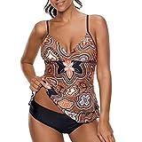 Tankini Femme Deux Pièce Maillots de bain Natation Ensemble Bikini Costume Strappy Swimwear Tenue de plage Baignade Ensemble S - 5XL Juleya