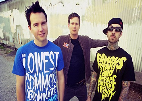 Blink 182 10 Mark Hoppus Travis Barker Scott Raynor Tom DELONGE grande album in metallo, design musica rock band poster A3 unico Stampa portafoto Best