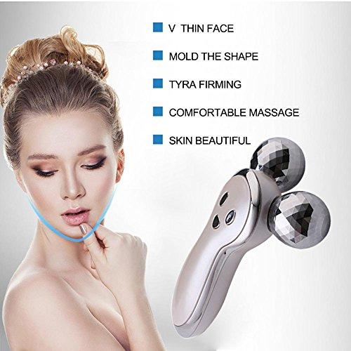Ljourney 3D Gesicht Massage Roller Mit Mikrostrom Gesicht Massage Roller Facelifting Instrument Aufladen Akupunktur Facelifting Instrument V förmigen Massagegerät Massageroller Für Gesicht Körper - 5