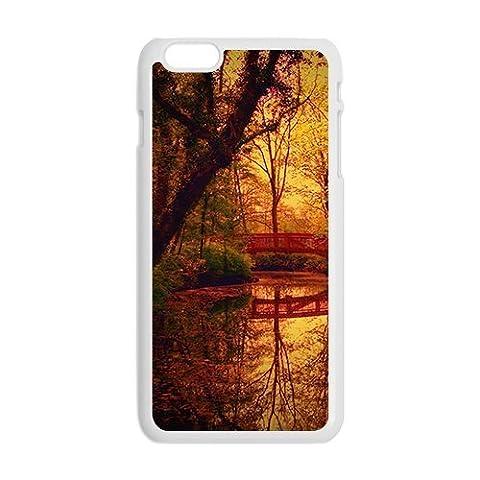Herbst Wald und Brücke Weiß Telefon Hülle für Iphone6 ??plus - XCCRDHEF015503