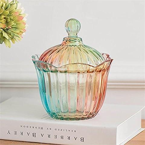 Uncle Sam LI- Stained caramelle di vetro serbatoio di stoccaggio vaso della decorazione della casa in vetro, 18.5 * 15cm