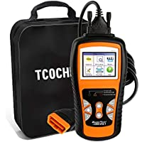 TCOCHE 4.7 'LCD OBD2 Escáner, OBDII Professional Car Auto Diagnostic Lector de Código de Coche & Coche Motor de vehículo O2 Sensor Systems Scanners Herramienta para todos los OBD 2 Protocol Cars desde 1996, Función de Impresión de Datos Disponible
