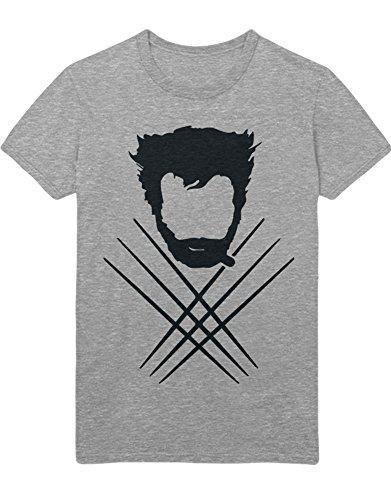 Kostüm Apocalypse Men X - T-Shirt Wolf C000011 Grau XL