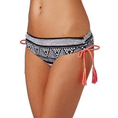 Roxy Damen Bikini Hose schwarz/weiß