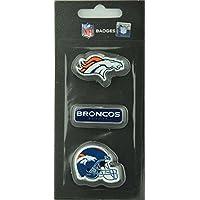 NFL Football Denver Broncos dreiteiliges Pin Badge Set