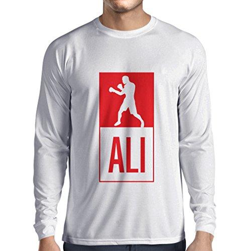Camiseta de Manga Larga para Hombre Boxeo - en el Estilo de Lucha para Entrenamiento, Deportes, Ejercicio...