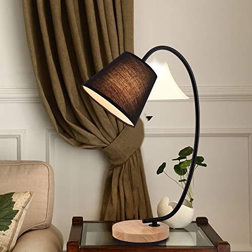 Kleine tischlampe lernen augenschutz lampe schreibtisch schlafzimmer nachttischlampe verstellbar nachtlicht led weißes licht schalter schwarz abdeckung -