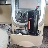 Puncia 12V Wasserkocher Auto Edelstahl Elektrische Smart Kaffeetasse für Auto mit Temp Steuerung und Display(Schwarz)