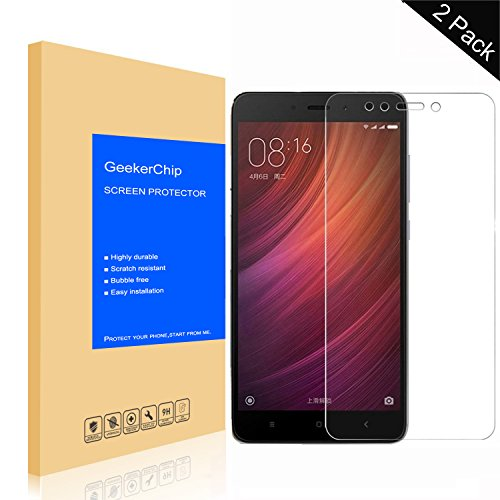 GeekerChip Protector de Pantalla Xiaomi Redmi 5 [2-Unidades],Protector Pantalla Cristal Vidrio Templado para Xiaomi Redmi 5
