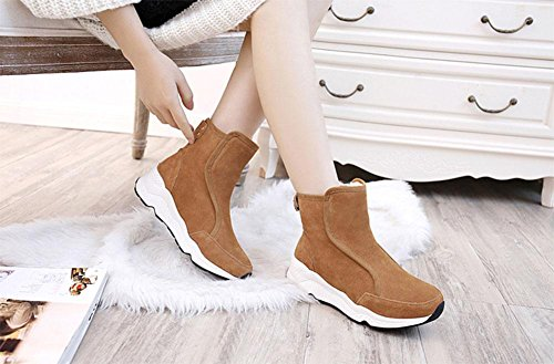 MEILI Stivali da donna, scarpe da donna, tubo corto, stivali da neve, stivali, pan di Spagna, fondo spesso, stivali di cotone, stivali sportivi, scarpe di cotone US6.5-7 / EU37 / UK4.5-5 / CN37