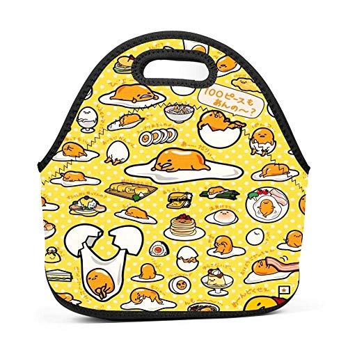 Dozili gudetama grandi e spessi neoprene lunch bags lunch tote bags cooler calda calda borsa con tracolla per le donne teenager ragazze bambini adulti
