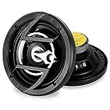 auna CS-658 • 2-Wege-Koaxial-Boxen • Auto Lautsprecher • Car HiFi Boxen • Einbau-Lautsprecher • 300 Watt max. Leistung • 94,3 dB Schalldruck • 2 x 16,5 cm-Lautsprecher • Metall-Korb • schwarz-Silber