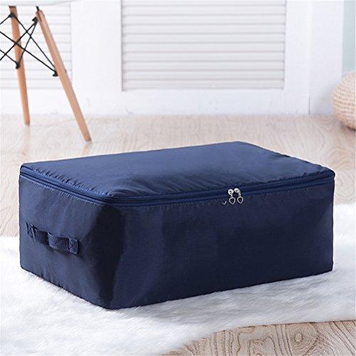 Rucksack Vakuum-maschine (Kleideraufbewahrung Aufbewahrungstasche Bettdecken und Kissen Decken Betten Bettwaren Kissen perfekte Tragetasche oder Aufbewahrungstaschen auch für Stillshine (M: 58 * 40 * 20cm, marineblau))