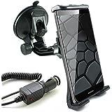 Coche Juego para Huawei Mate 9Lite/mate 8/mate s/P8/P8Lite/Y3/y625/mate 7/Ascend G7P7G620s Mini Y550P6G730Y330Y530G630G6Y300/Soporte de coche para el parabrisas de coche con cable en Negro