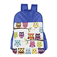 Owls On Branches Children School Backpack Carry Bag for Youth Boys Girls