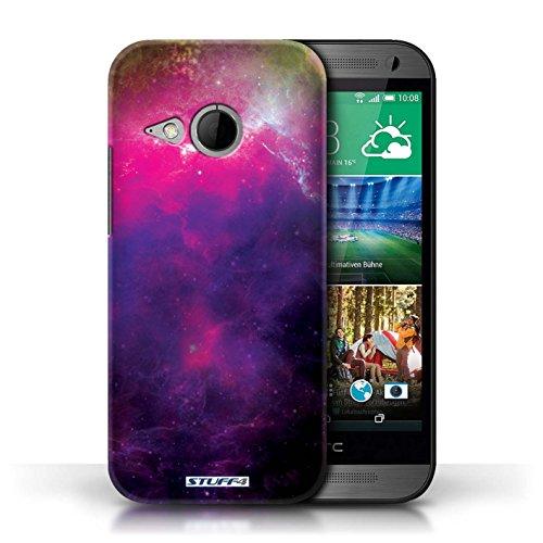 Kobalt® Imprimé Etui / Coque pour HTC One/1 Mini 2 / Planète Pourpre conception / Série Cosmos Nébuleuse Pourpre