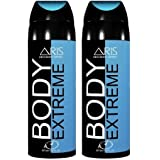 ARIS BODY EXTREME DEODORANT BODY SPRAY FOR MEN COMBO (PACK OF 2, 200 + 200 = 400 ML.)
