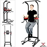 MAXSTRENGTH Multi Gyms Power Tower Dip Station Vertical Knee Raise Pull Chin Push