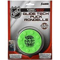 Franklin Electronics NHL Glide Tech Pro Street Hockey Puck, Todo el año, Color Verde, tamaño Medium